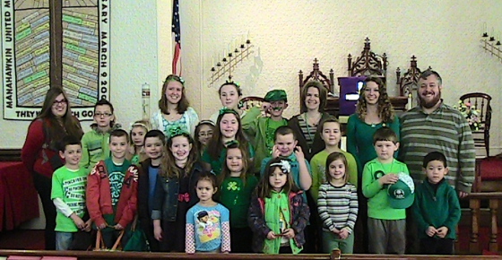 Celebrating St. Patrick's Day at Sunday School